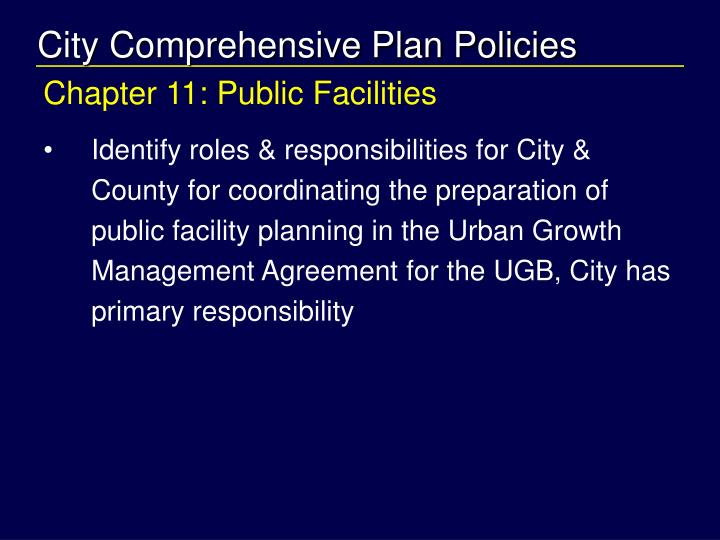 City Comprehensive Plan Policies