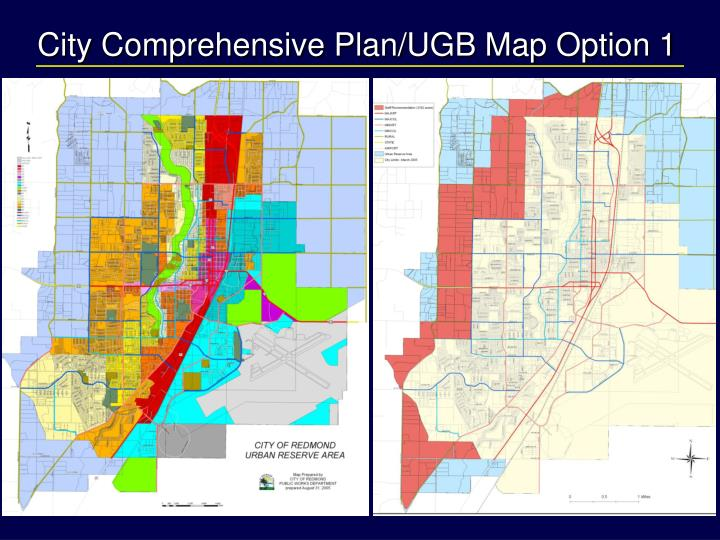 City Comprehensive Plan/UGB Map Option 1