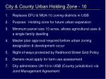 city county urban holding zone 10
