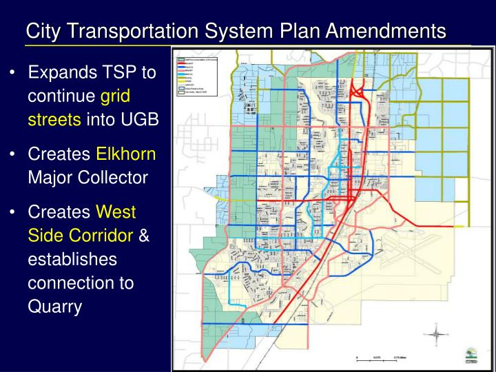 City Transportation System Plan Amendments