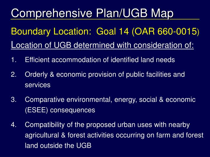 Comprehensive Plan/UGB Map