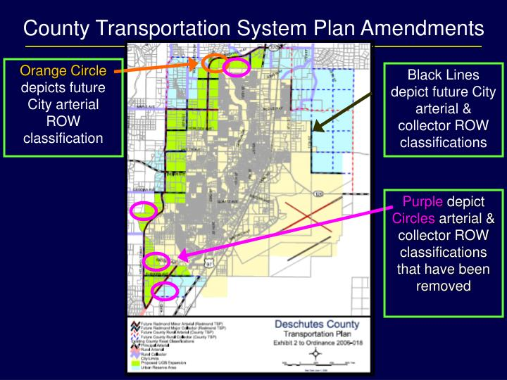 County Transportation System Plan Amendments