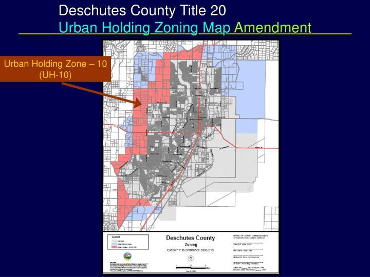 Deschutes County Title 20