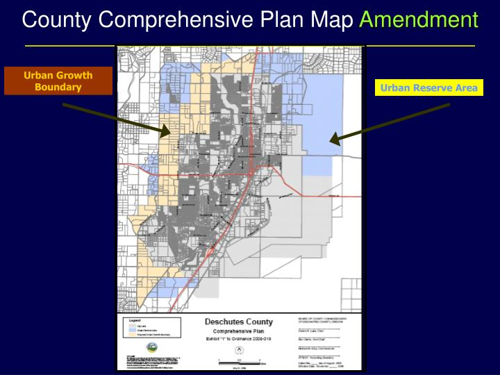 County Comprehensive Plan Map