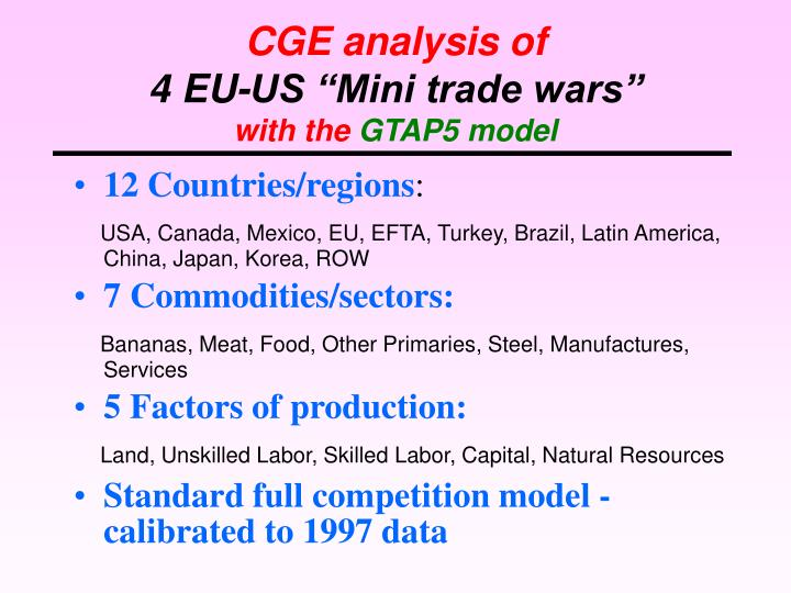 CGE analysis of
