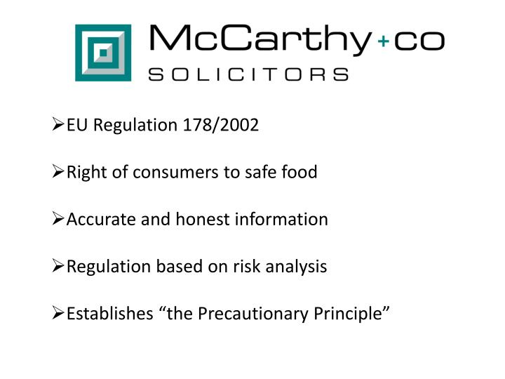 EU Regulation 178/2002