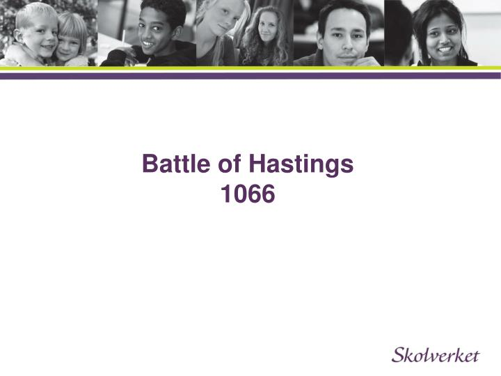 Battle of hastings 1066