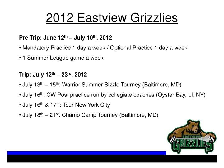 2012 Eastview Grizzlies