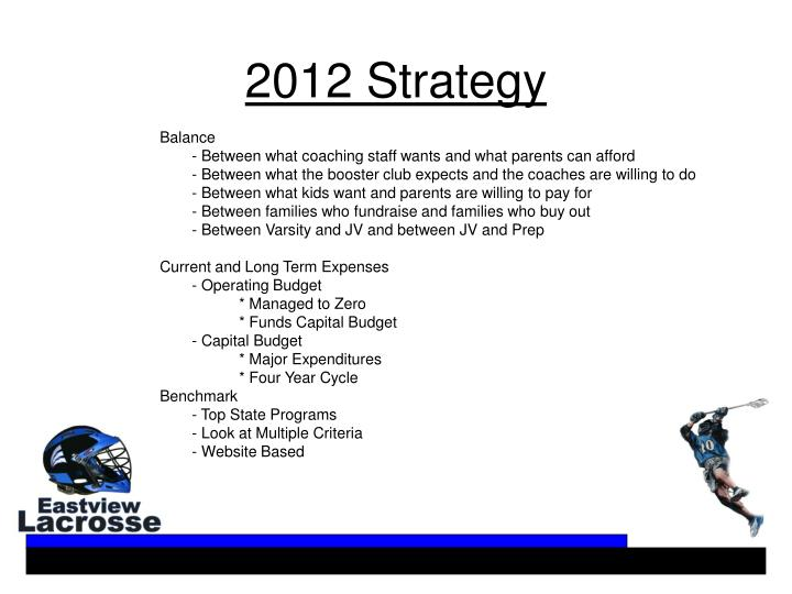 2012 Strategy