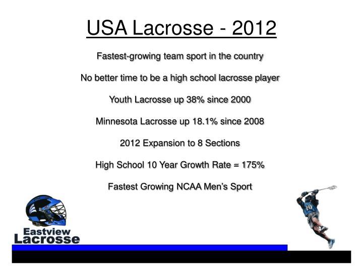 USA Lacrosse - 2012