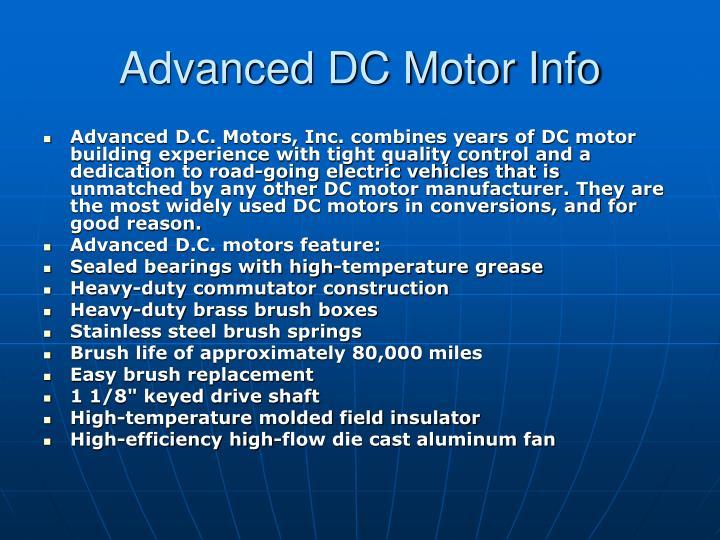 Advanced DC Motor Info
