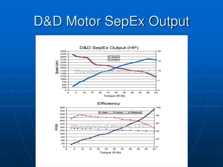 D&D Motor SepEx Output