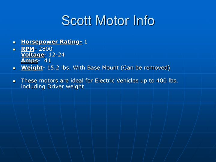 Scott Motor Info