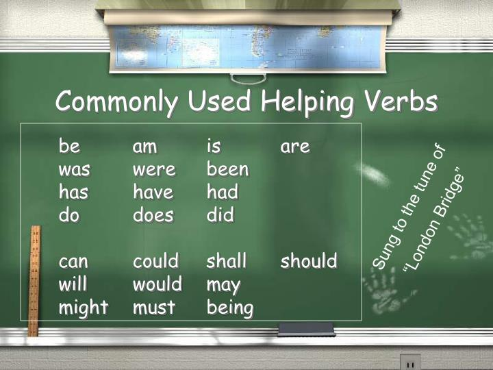 Commonly Used Helping Verbs