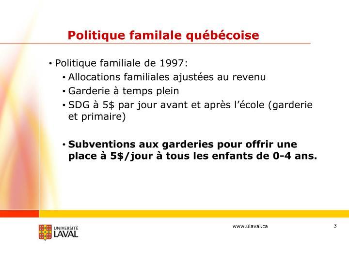 Politique familale québécoise