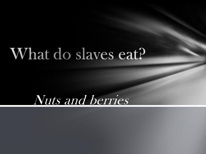 What do slaves eat?