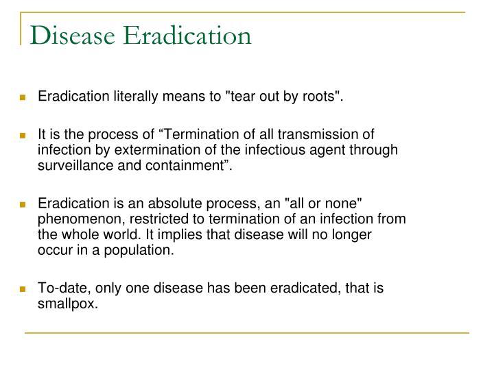Disease Eradication