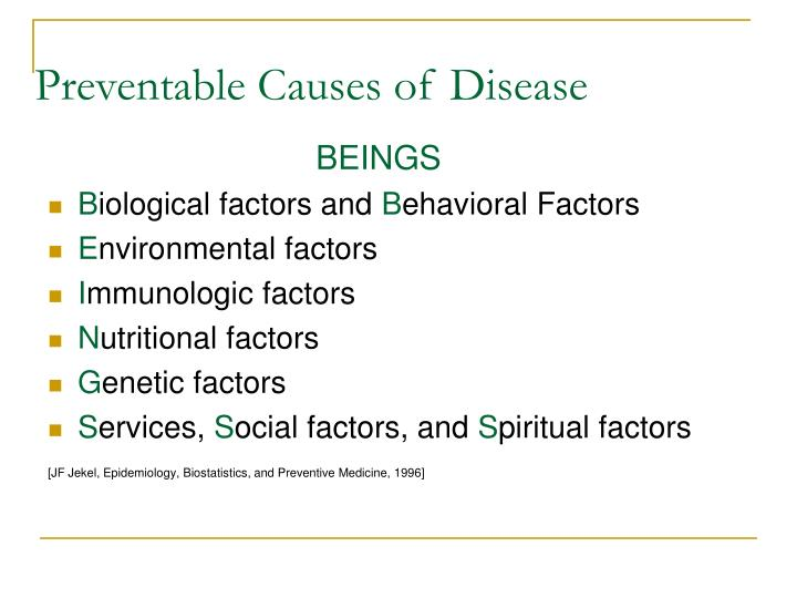 Preventable Causes of Disease