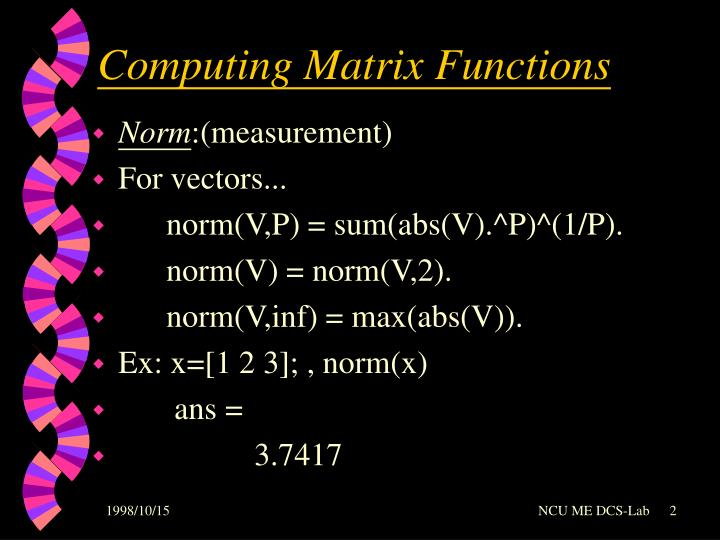 Computing Matrix Functions