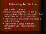 refreshing recollection1