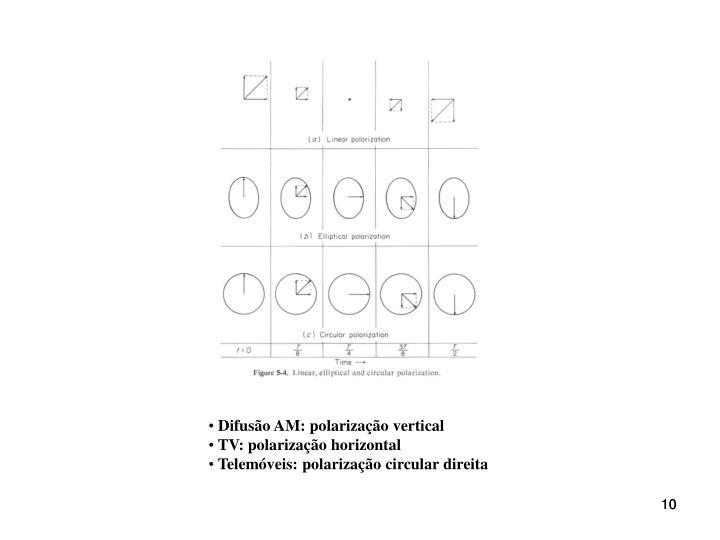 Difusão AM: polarização vertical
