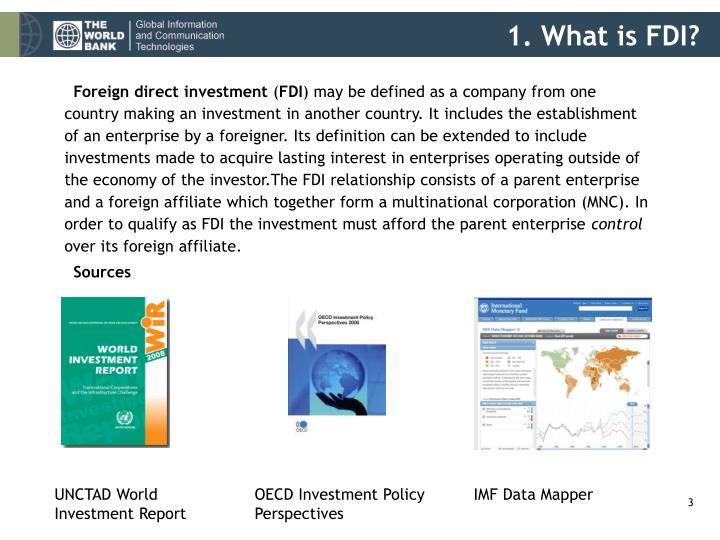 1. What is FDI?