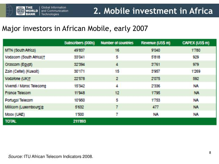 2. Mobile investment in Africa