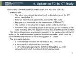 4 update on fdi in ict study