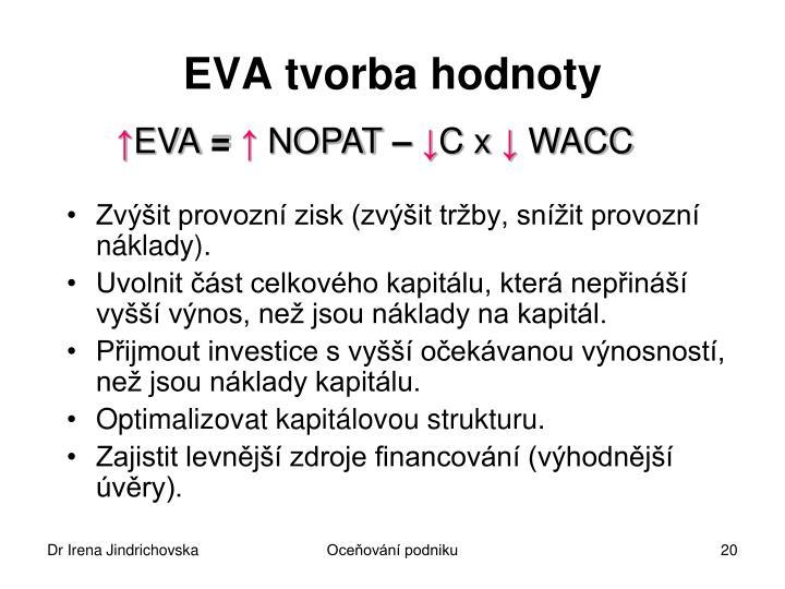 EVA tvorba hodnoty