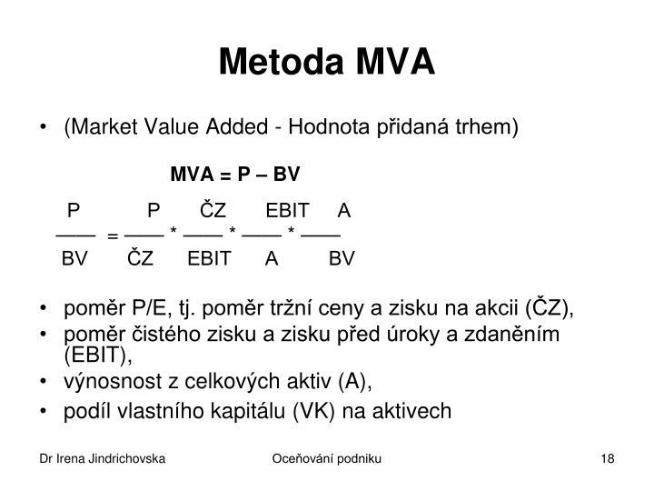 Metoda MVA