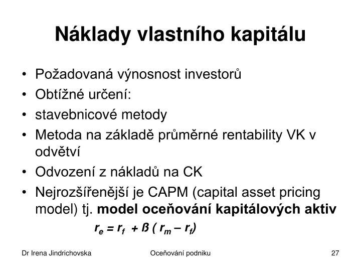 Náklady vlastního kapitálu