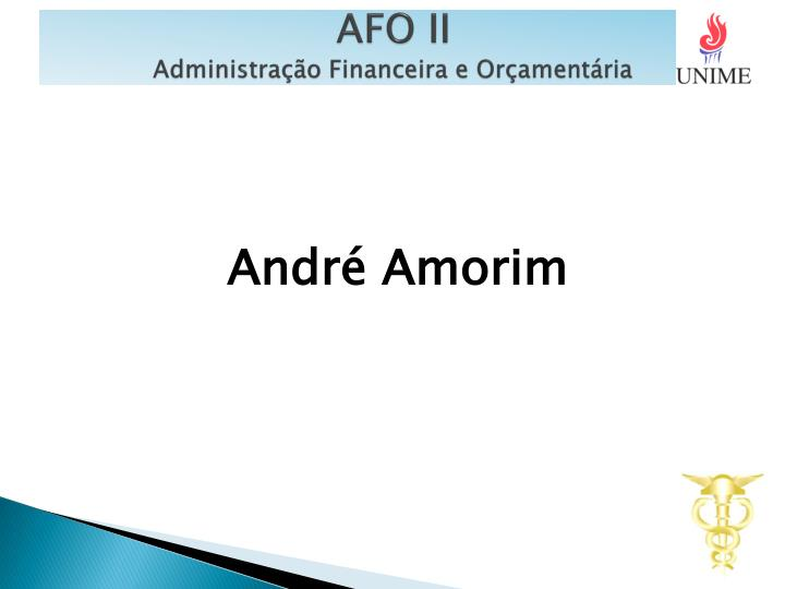 Afo ii administra o financeira e or ament ria