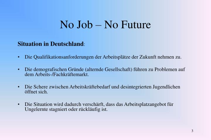 No job no future2