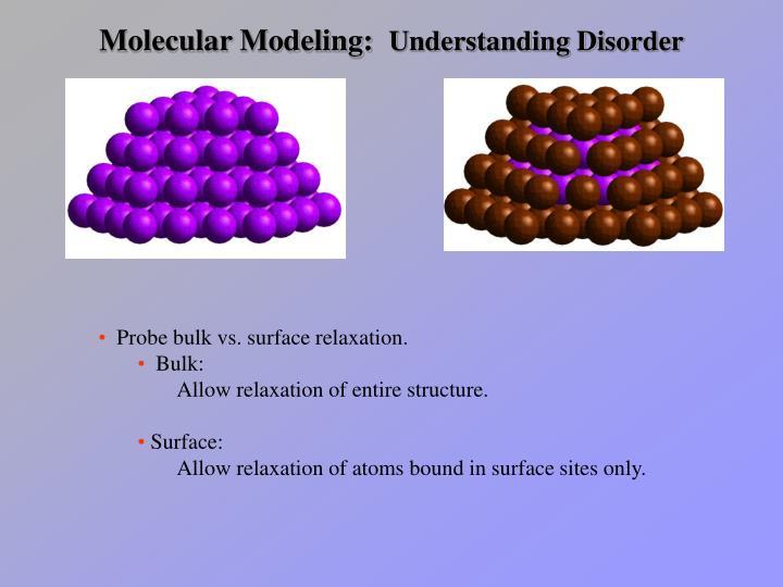Molecular Modeling: