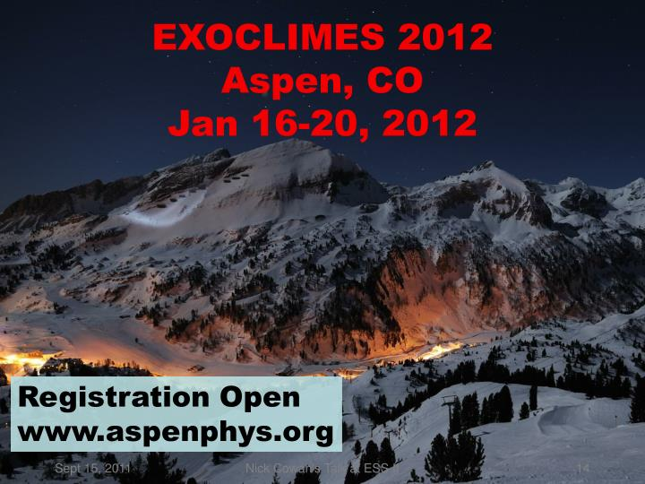 EXOCLIMES 2012