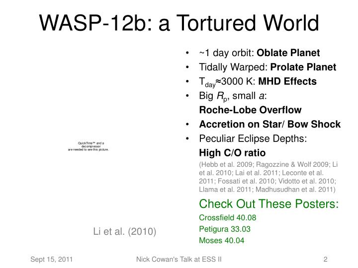 Wasp 12b a tortured world