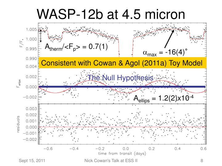 WASP-12b at 4.5 micron