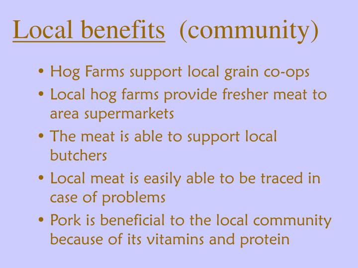 the benefits of local farming essay What are the benefits and disadvantages we will write a custom essay sample on but also you can find that it brings more disadvantages to the local people.