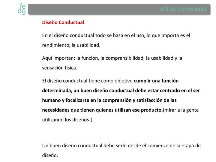 Diseño Conductual