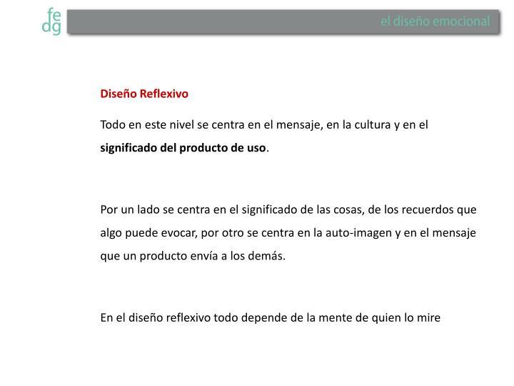 Diseño Reflexivo