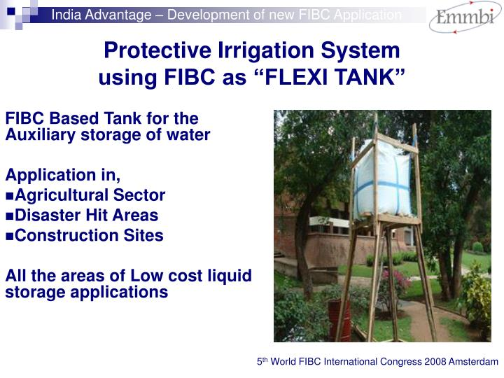 India Advantage – Development of new FIBC Application