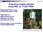 protective irrigation system using fibc as flexi tank