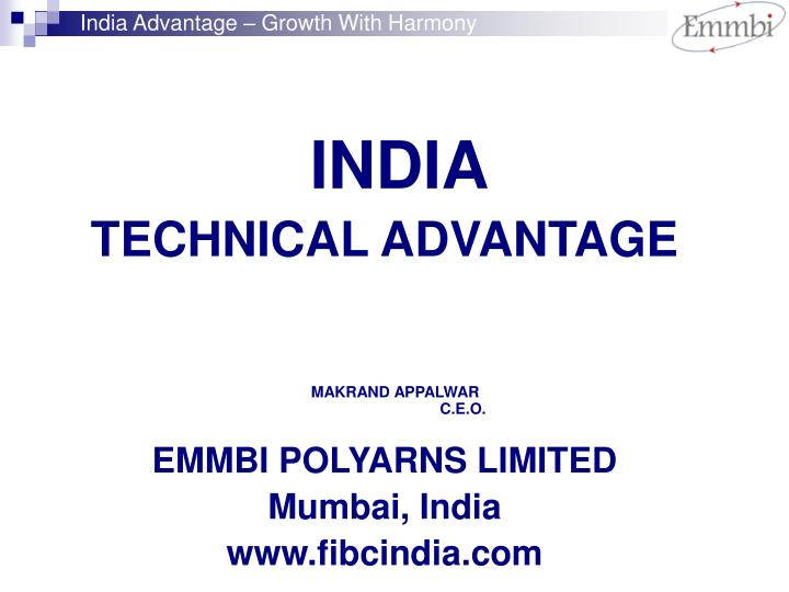 India Advantage – Growth With Harmony