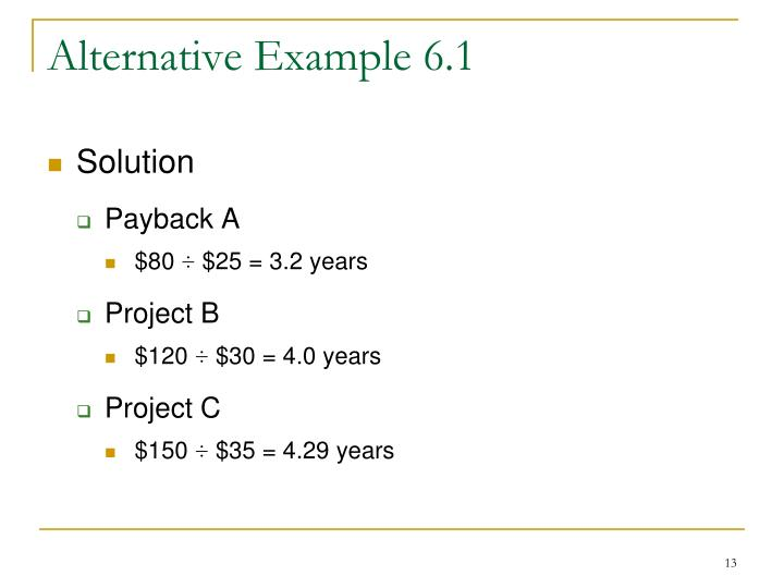 Alternative Example 6.1