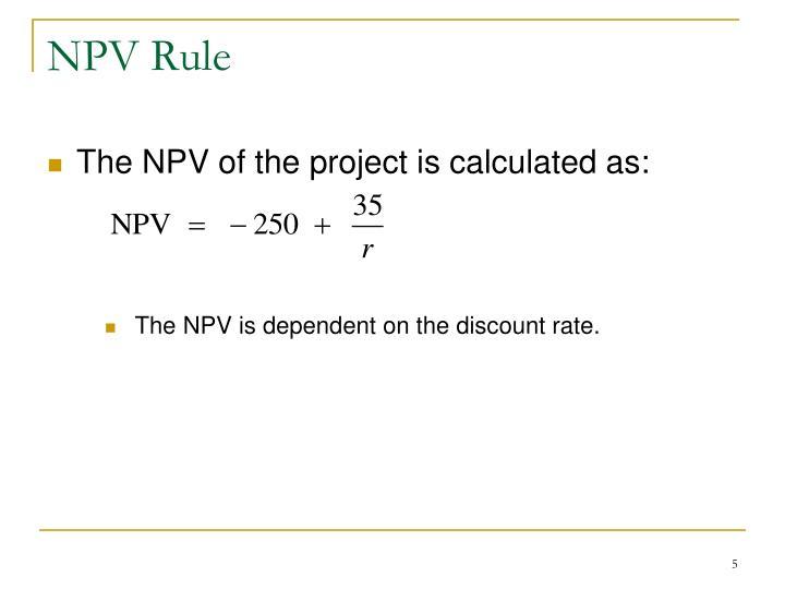NPV Rule
