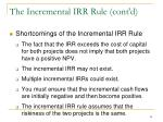 the incremental irr rule cont d2