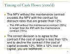 timing of cash flows cont d2