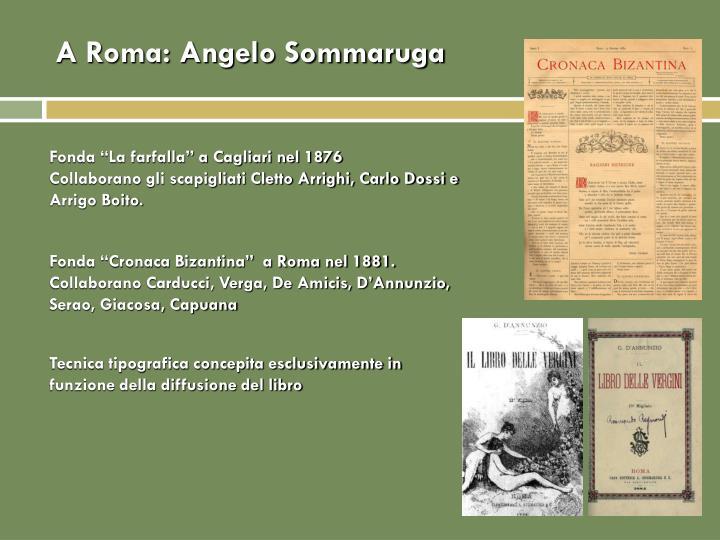 A Roma: Angelo Sommaruga