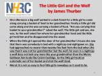 the little girl and the wolf by james thurber
