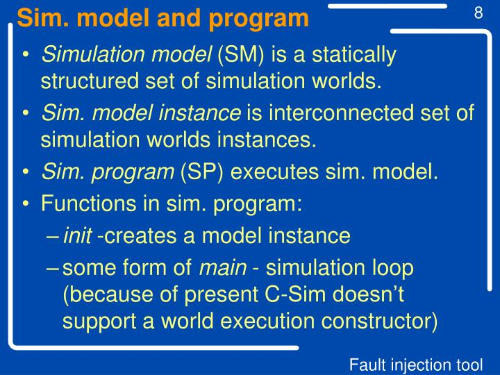 Sim. model and program